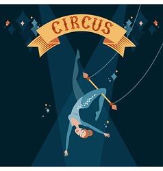 circus acrobat vector image