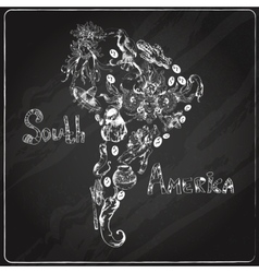 South america chalkboard vector