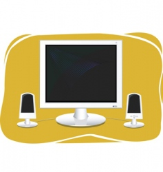 flat screen computer vector image