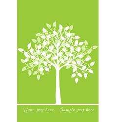 White tree vector
