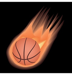 basketball-fire vector image