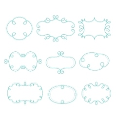 Outline frames mono line graphic vector