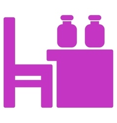 Apothecary table icon vector