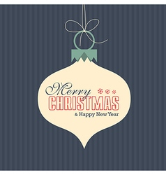 Merry christmas card label vector