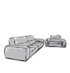 Hand drawn sofa vector