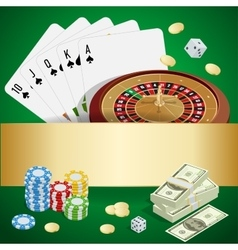 Casino concept Casino background with cards vector image