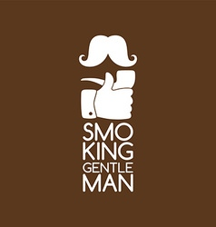 Pipe smoker like thumb up vector