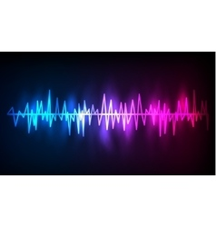Digital glowing colorful equalizer vector