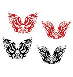 Bikers and bikes tattoos vector