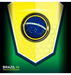 Banner brazil color modern backgrounds vector