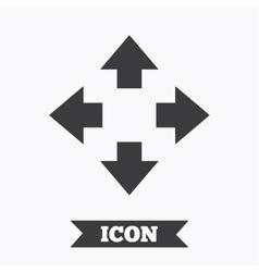 Fullscreen sign icon Arrows symbol vector image