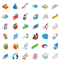 Card icons set isometric style vector