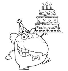 Cartoon elephant vector image vector image