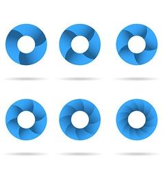 Circles segmented into parts set vector image vector image