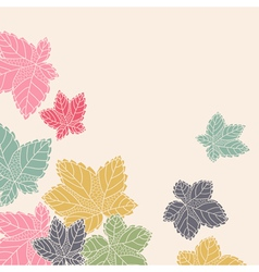 Corner pattern with leaves flying away vector
