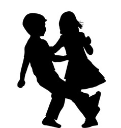 Couple of children dancing vector image vector image
