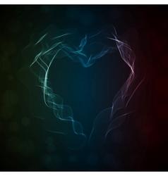 Glowing smoke heart vector image vector image