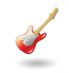 guitar illustration vector image