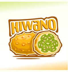 kiwano fruit vector image