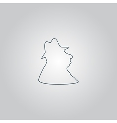 Man profile in hat icon vector image