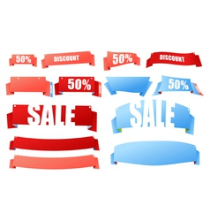 origami advertising banners vector image vector image
