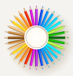 Pencil Colors vector image vector image