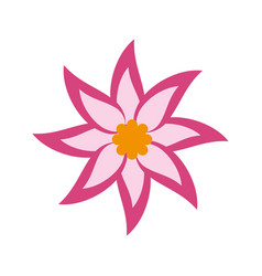 Pink flower icon vector