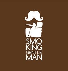pipe smoker like thumb up vector image vector image
