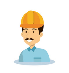 professional construction man character vector image