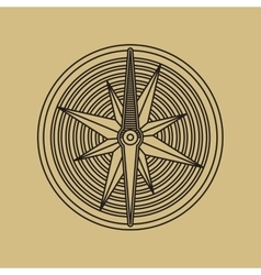 Round Linear Vintage Compass Logo vector image vector image