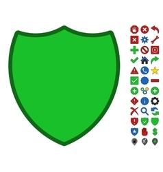 Shield symbol with toolbar icon set vector