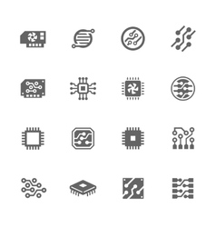 Simple Electronics icons vector image vector image