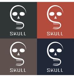 Skull monogram vector