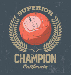 Superior california champion poster vector