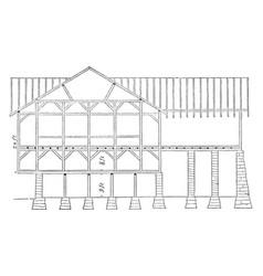 The pennsylvanian barn frame work commercial vector