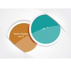 Two stickers vector image vector image