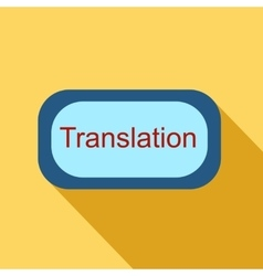 Translate button icon flat style vector