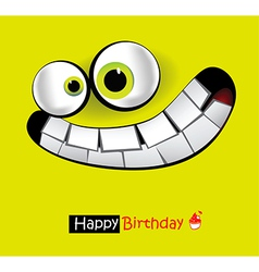 Happy birthday smile card vector