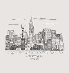 new york vintage vector image