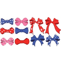 Set of bows cartoon vector