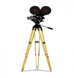 old film movie camera vector image