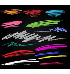 Scribble colorful smears hand drawn in pencil vector