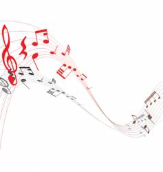 Musical staff vector