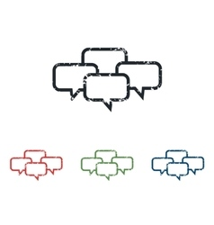 Conference grunge icon set vector