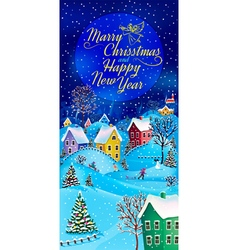 Greeting card christmas vector