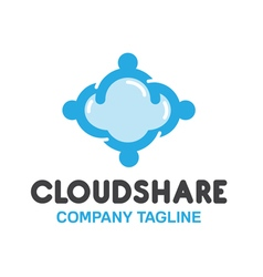 Share cloud design vector