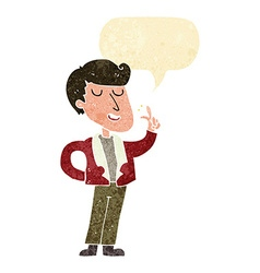 Cartoon cool guy snapping fingers with speech vector