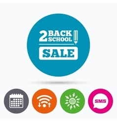Back to school sign icon back 2 school symbol vector