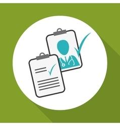Medical design Care icon Health concept vector image
