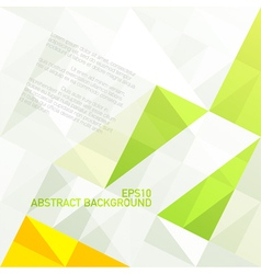 green gamut geometric abstract background vector image